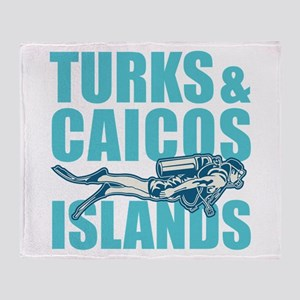 Turks and Caicos Islands - Scuba Throw Blanket